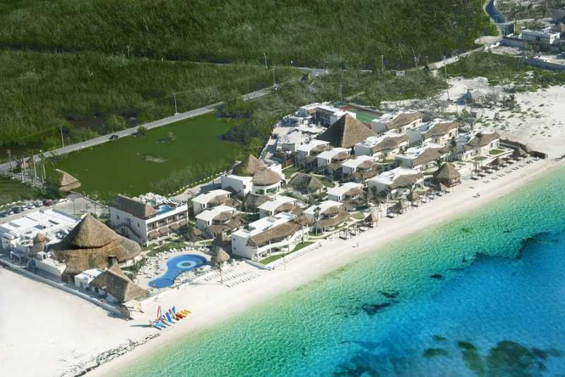 Aerial View of Desire Resort Riviera Maya