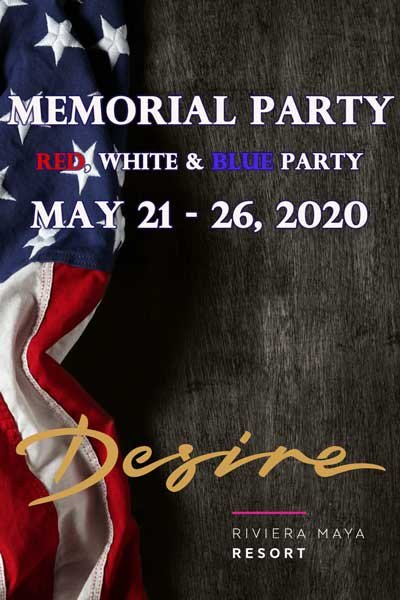Memorial Party - Red, White, and Blue at Desire Resort Riviera Maya