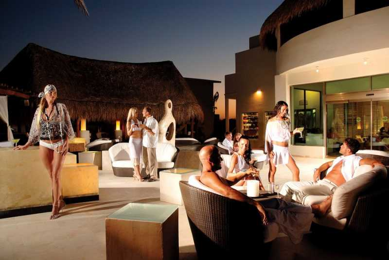 Melange Lobby Bar at Desire Resort Riviera Maya