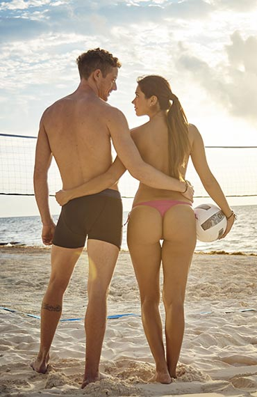 Exotic Beach Volleyball for couples