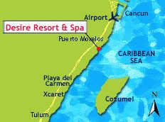 Desire Resort Riviera Maya map