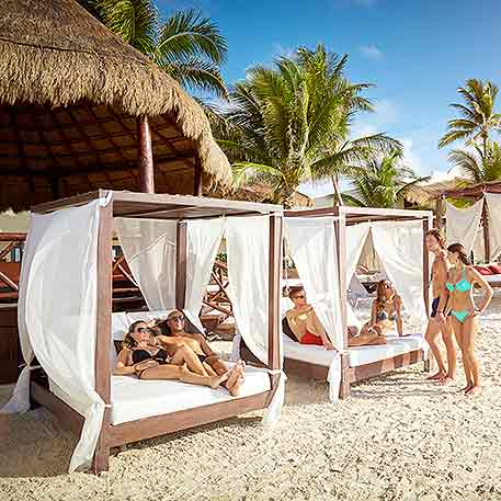 Beach Bar at Desire Resort Riviera Maya