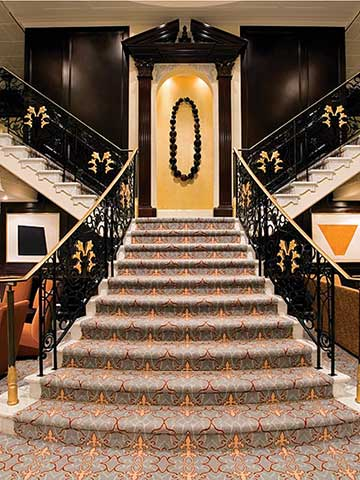 The Grand Staircase aboard the Azamara Quest